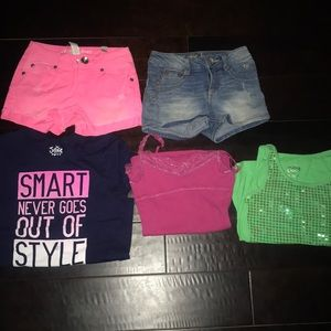 Justice lot size 8 girls